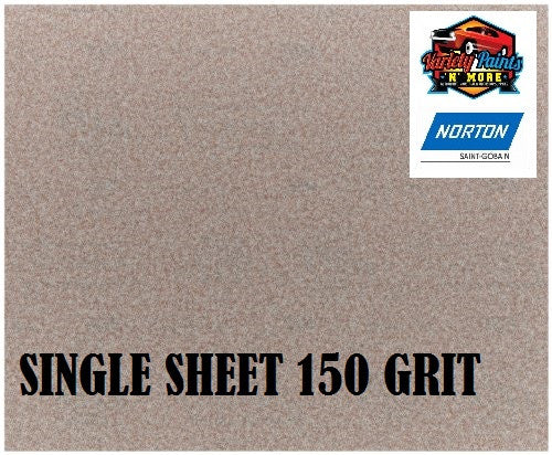 Norton No Fil Sand Paper 150 Grit Single Sheet