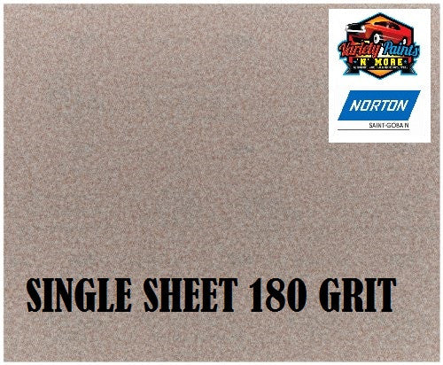 Norton No Fil Sand Paper 180 Grit Single Sheet