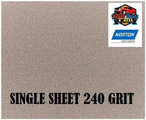 Norton No Fil Sand Paper 240 Grit Single Sheet