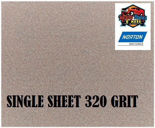 Norton No Fil Sand Paper 320 Grit Single Sheet