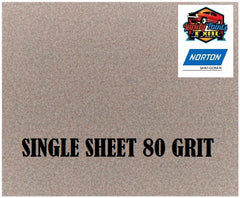 Norton No Fil 80 Grit SINGLE Sand Paper Sheet A275