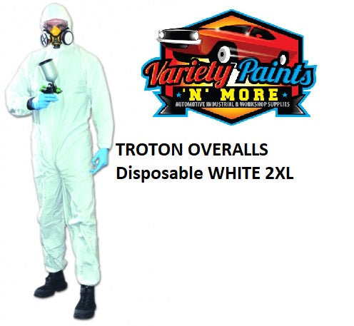 TROTON WHITE Disposable Overall 2XL