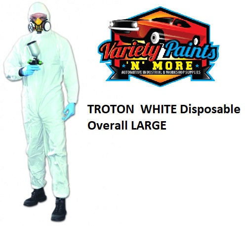 TROTON WHITE Disposable Overall Extra Large XL