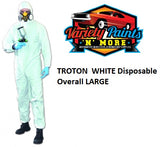 TROTON WHITE Disposable Overall LARGE