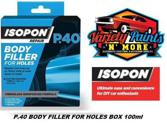 Isopon P40 Body Filler for Holes Repair Kit 100ml