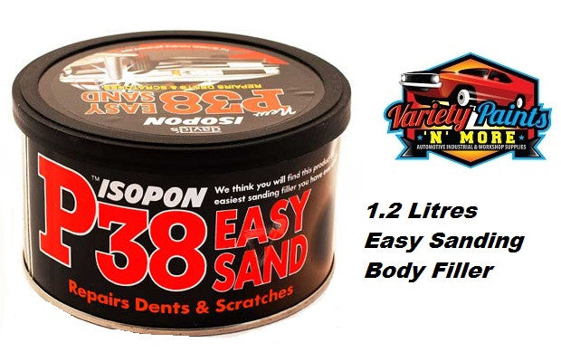 Isopon P38  Super Easy Sanding Lightweight Body Filler 1.2 Litre