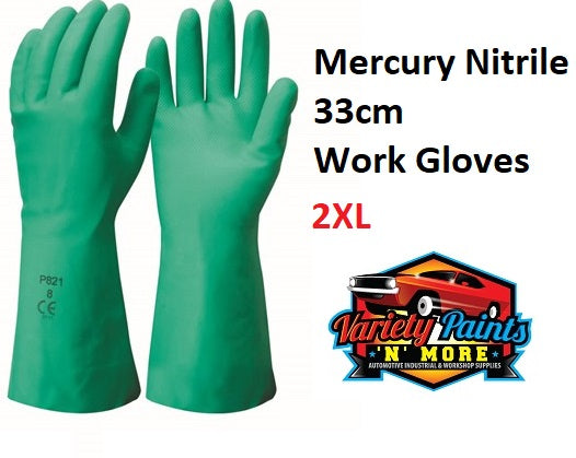 Mercury Nitrile 33cm Work Gloves 2XL 1 Pair