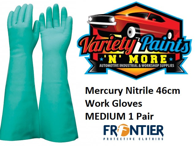 Mercury Nitrile 46cm Work Gloves MEDIUM 1 Pair