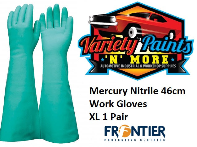 Mercury Nitrile 46cm Work Gloves XL 1 Pair