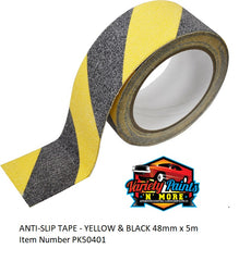 ANTI-SLIP TAPE - YELLOW & BLACK 48mm x 5m
