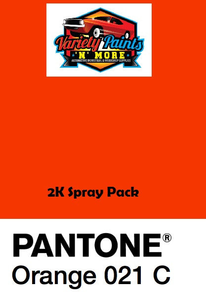 PMS 021C Very Bright Orange Pantone Debeers  2K 2 Litres