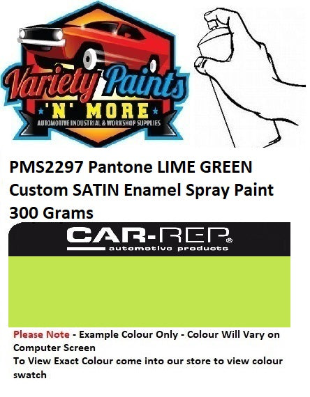 PMS2297 Pantone Lime Green Custom MATT Enamel Spray Paint 300 Grams
