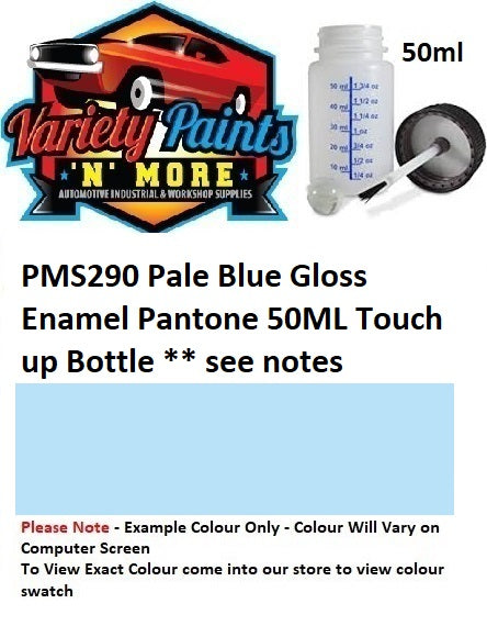PMS290 Pale Blue Gloss Enamel Pantone 50ML Touch up Bottle ** see notes