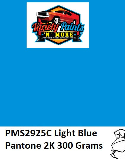 PMS2925 Pantone Light Blue 2K Direct Gloss Custom Spray Paint 300 Grams