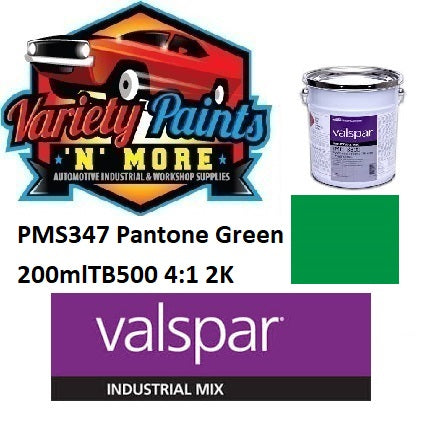 PMS347C Pantone Green Valspar Industrial Gloss 2K TB500 PU Topcoat 250ml 4:1