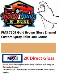 PMS7509 Gold Brown Gloss Enamel Custom Spray Paint 300 Grams