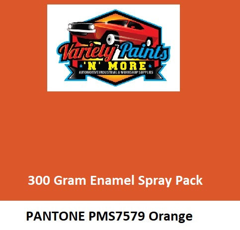 PMS 7579 Pantone Orange (Full of Life Orange) TB300 Enamel Custom Spray Paint 300 Grams
