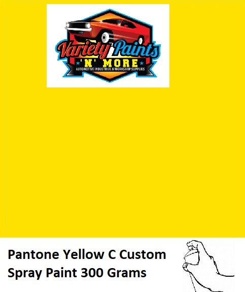 Pantone Yellow C Custom Gloss ACRYLIC Spray Paint 300g