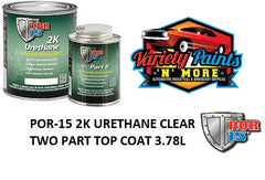 POR-15 2K URETHANE CLEAR TWO PART TOP COAT 3.78L