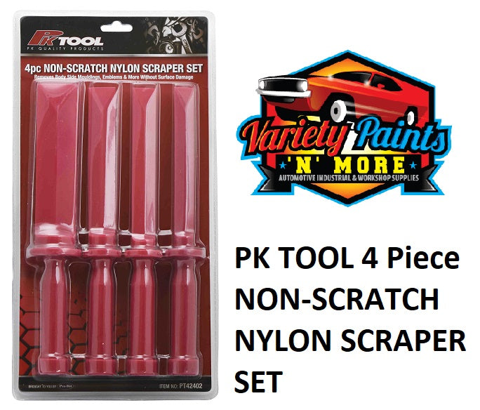 PK TOOL 4 Piece NON-SCRATCH NYLON SCRAPER SET