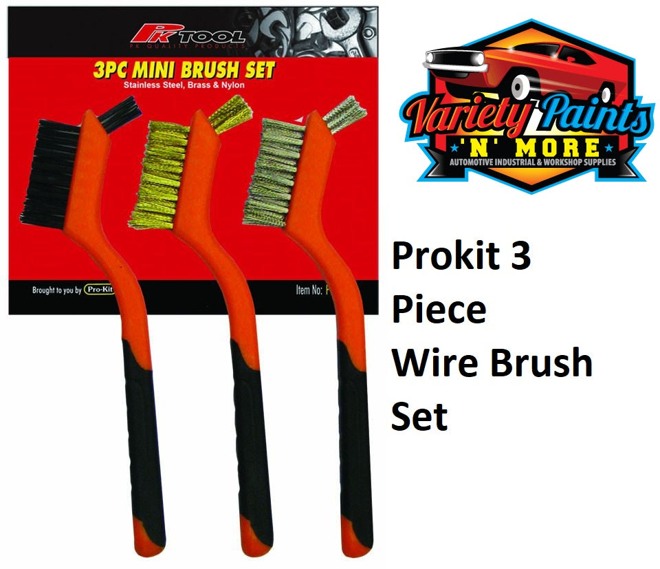 PK Tool 3 Piece Wire Brush Set