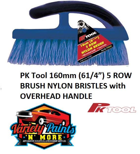 "PK Tool 160mm (61/4"") 5 ROW BRUSH NYLON BRISTLES with OVERHEAD HANDLE"