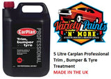 CarPlan Professional Bumper Tyre & Trim Treatment 5lt  Varviety Paints N More