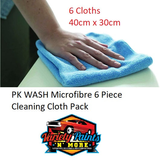 PK WASH Microfibre 6 Piece Cleaning Cloth Pack