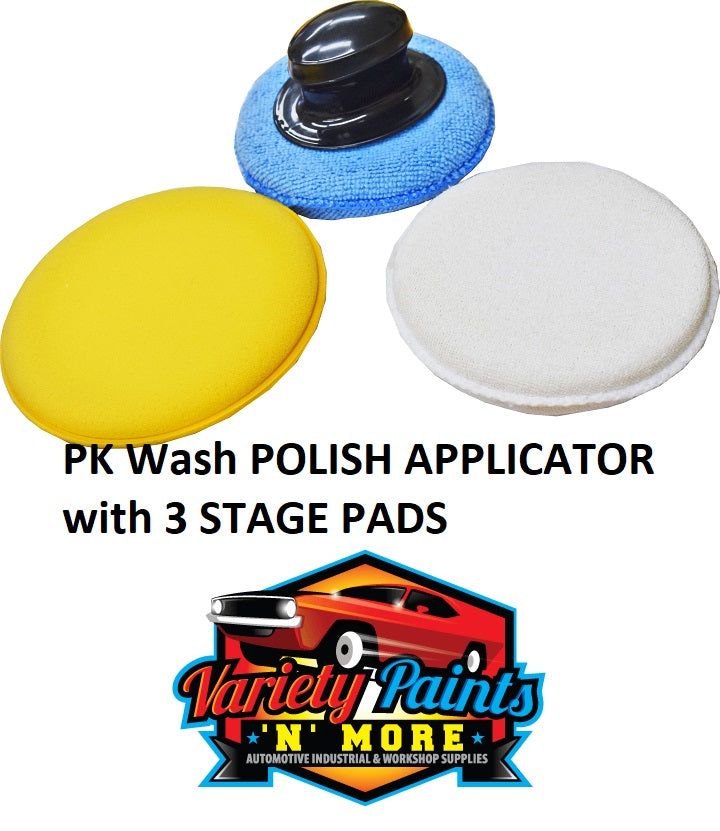 PK Wash POLISH APPLICATOR with 3 STAGE PADS