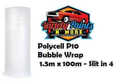 Polycell P10 Bubble Wrap 1.5m x 100m - Slit in 4