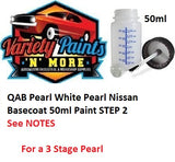 QAB Pearl White Pearl Nissan Basecoat 50ml Paint STEP 2