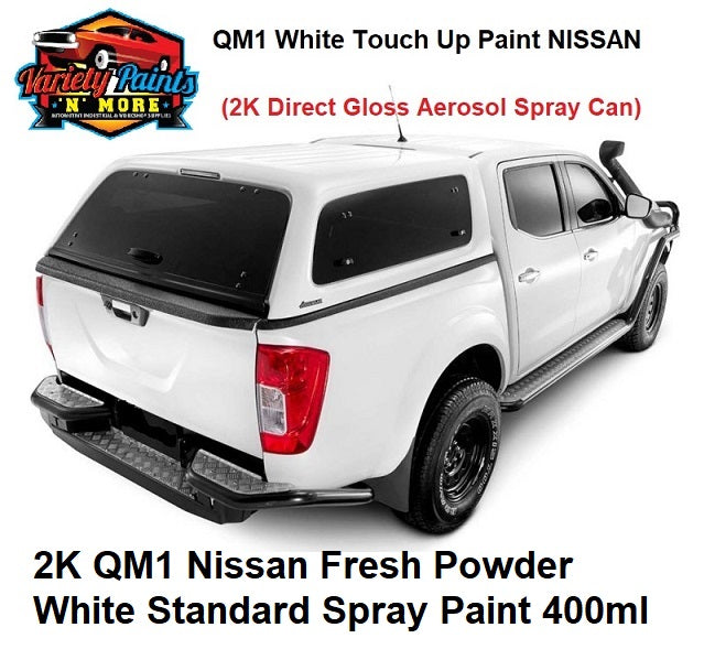 Variety Paints  2K QM1 Nissan Fresh Powder White Standard Spray Paint 400ml