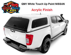 Variety Paints Acrylic QM1 Nissan Fresh Powder White Standard  Aerosol Can Mix 300 Grams