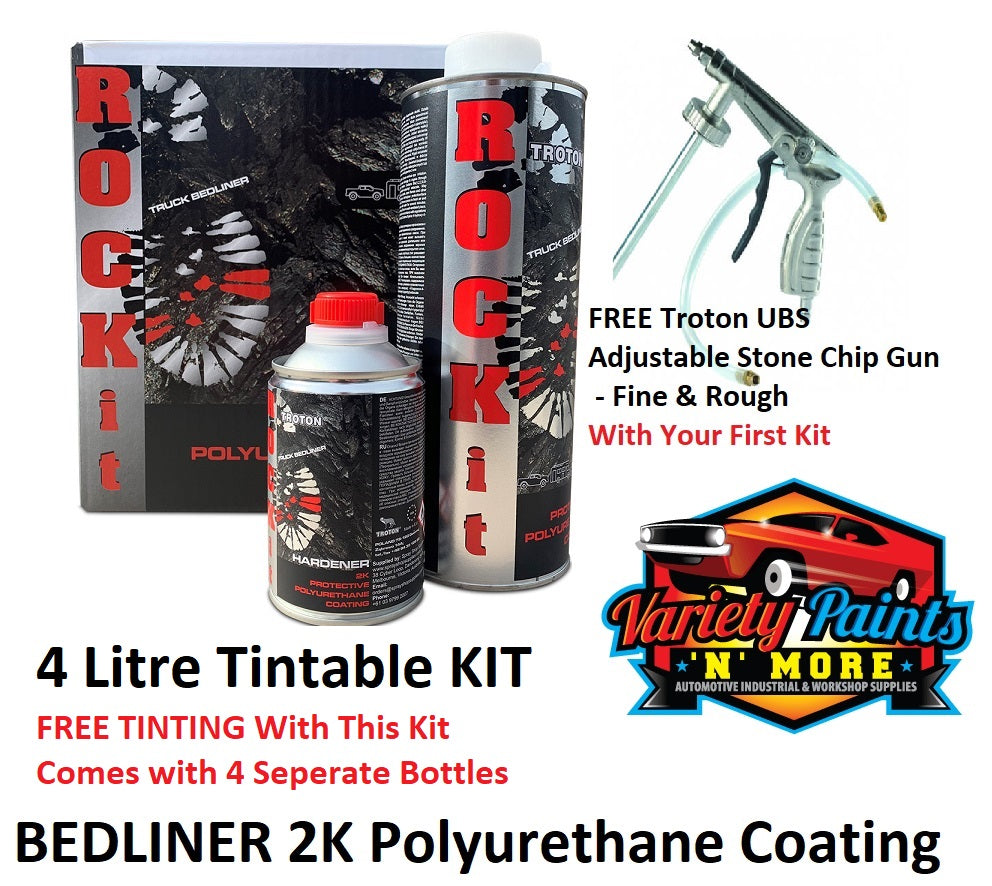 ROCK IT 2K Polyurethane Bed Liner Protective Coating Tintable Kit - 4 Litre