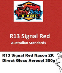 R13 Signal Red 2K Direct Gloss Aust Std Aerosol 300 Grams Nason Enamel