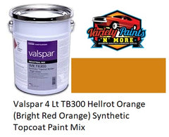Valspar 4 Lt TB300 Hellrot Orange (Bright Red Orange) Synthetic Topcoat Paint Mix RAL2008