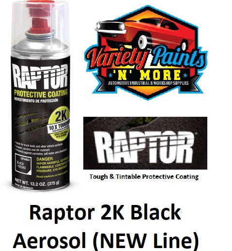 Raptor 2K Aerosol Black Bed Liner 400ml