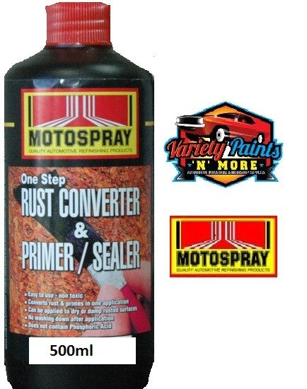 Motospray Rust Converter & Primer Sealer 500ml