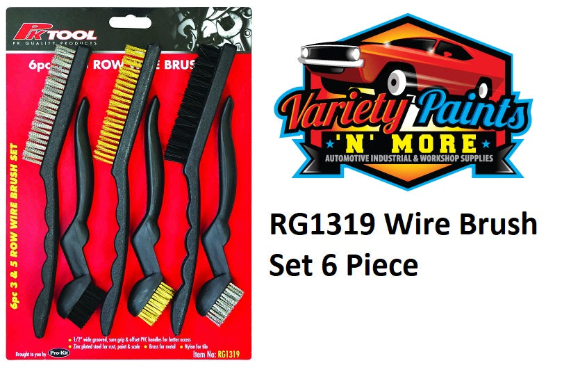 RTool 6 Piece Wire Brush Set