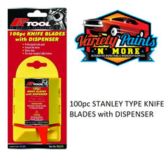100pc STANLEY TYPE KNIFE BLADES with DISPENSER PK Tool