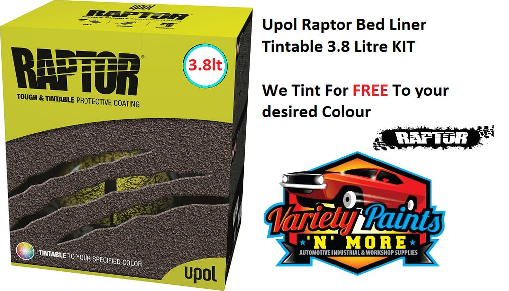 Upol Raptor Bed Liner Kit Tintable 3.8 Litre