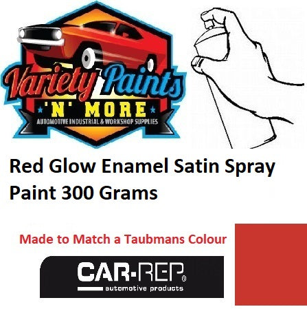 Red Glow Enamel Satin Spray Paint 300 Grams