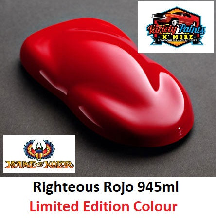 Limited Edition Righteous Rojo 945ml  SHIMRIN2® House of Kolor®