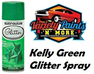 RustOleum Kelly Green Glitter Spray