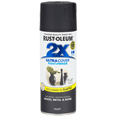RustOleum 2X Flat Black Ultracover Spray Paint