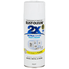 RustOleum 2X Flat White Ultracover Spray Paint