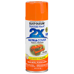 RustOleum 2X Gloss Real Orange Ultracover Spray Paint