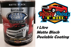 Rustoleum Peel Coat (Removable Coating) Matte Black 1 Litre Variety Paints N More