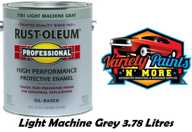 Rustoleum Gloss Light Machine Grey Professional Enamel Paint 3.78 Litre