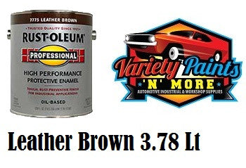 Rustoleum Leather BROWN Professional Enamel Paint 3.78 Litre